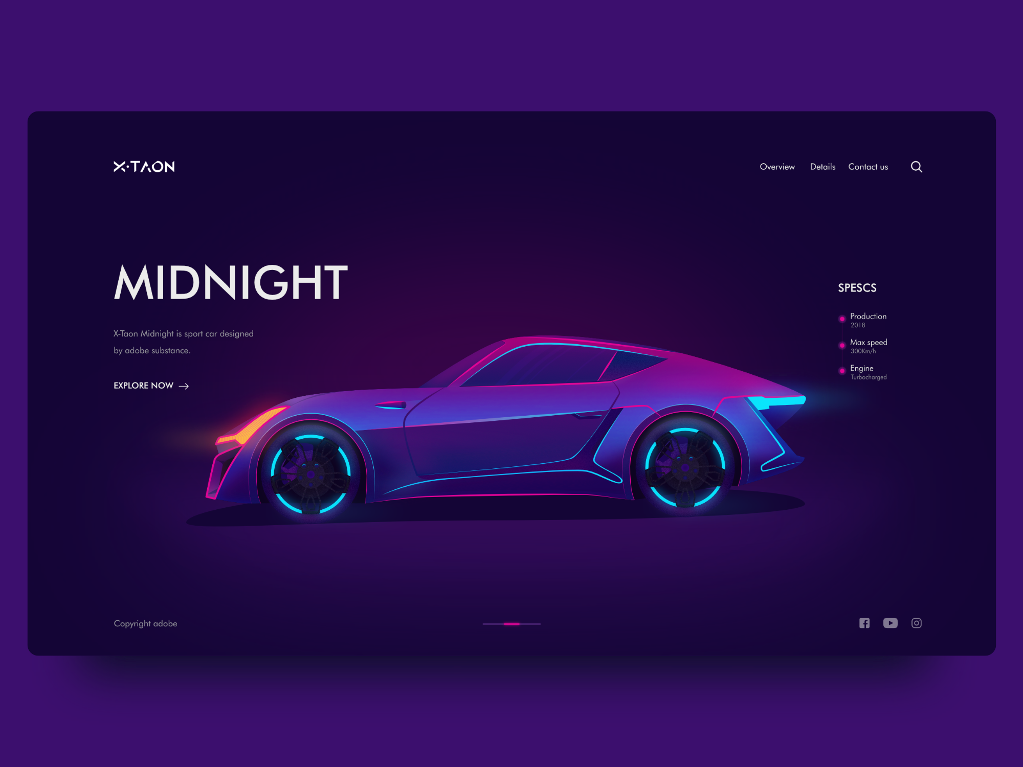 Bright color schemes in webdesign